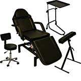 LCL Beauty Tattoo Package Hydraulic Table Chair Arm Bar Bed Tray Studio Salon Spa Equipment