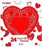 Flomo 2130720 Valentine Heart Shape Doilies - 8.25 in. - Case of 72