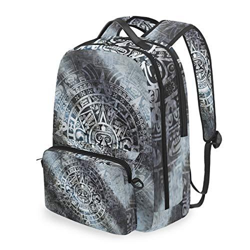 American Indian Mayan Calendar 15 Inch Travel Laptop Backpack College School Computer Bags Cross Bag (Best Calendar For Pc)