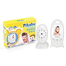"""Pikabu - Wireless Digital Baby Alarm 2"""" LCD Color Monitor + Camera, Video, 2 way Audio, IR Night Vision and 8 lullaby sounds - CE Safety Certified"""