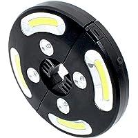Uonlytech Luz de sombrilla LED para patio, lámpara de tienda de campaña COB de 500 lúmenes, luz de poste para sombrilla para uso en exteriores de sombrillas para patio (negro)