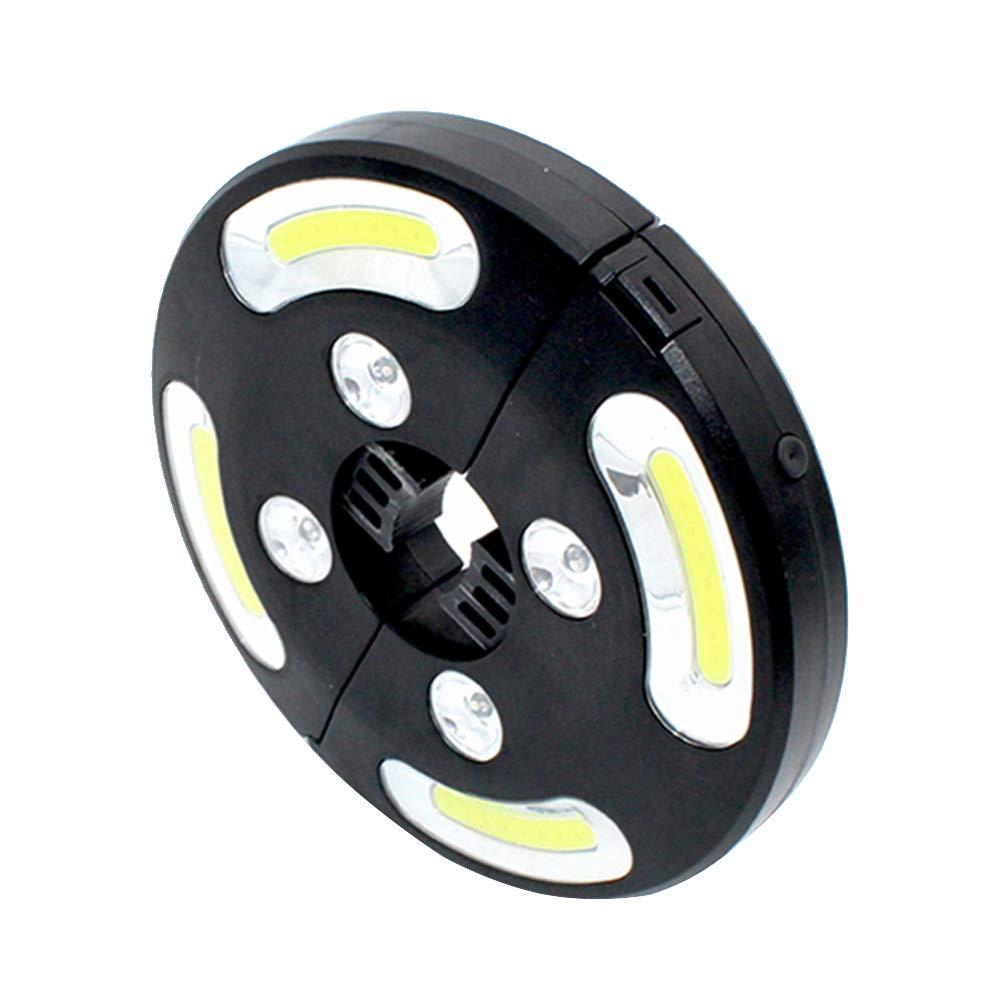 OSALADI COB+Colorful Light LED High Brightness Umbrella Lamp 500 Lumen Battery Powered
