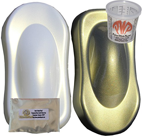 Gold Pearl Paint (25g Gold Ghost Pearl Paint Powder - Mica Pigment for Gold Iridescence, Gold Interference Pearl)