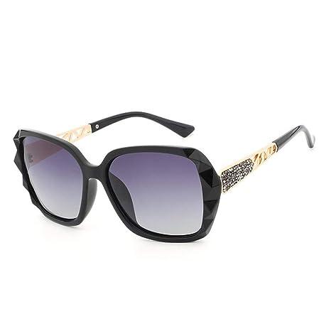 Man&Y Nuevas señoras Big Box Gafas de Sol polarizadas Anti ...