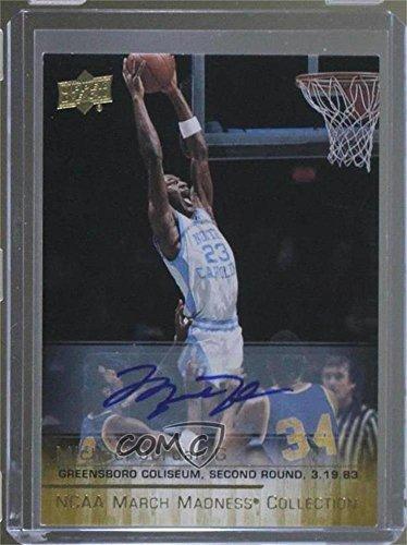 Michael Jordan (Basketball Card) 2014-15 Upper Deck NCAA March Madness Collection - [Base] - Autograph [Autographed] #MJ-6 - Autographed Ncaa Basketball