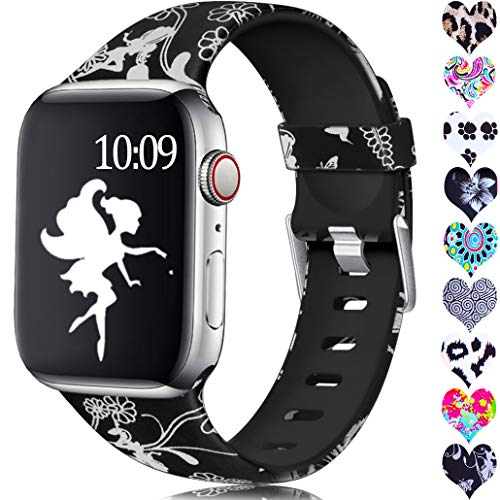Laffav Compatible with Apple Watch Band 44mm 42mm iWatch Series 4 3 2 1 for Women, Fairy, ()