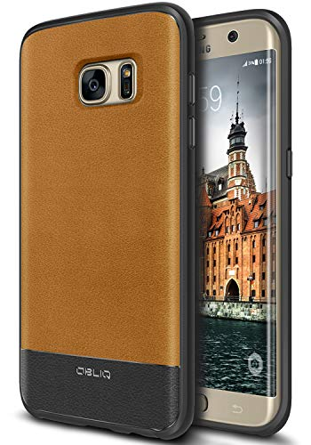 Galaxy S7 Edge Case, OBLIQ [Flex Pro][Brown] Premium PU Leather Slim Fit Form Fitting Heavy Duty Protective Cover for Galaxy S7 Edge(2016)