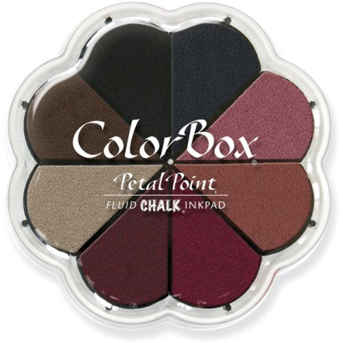 - CLEARSNAP Colorbox Fluid Chalk Petal Point Option Inkpad, Nightfall, 8 Colors Per Pad