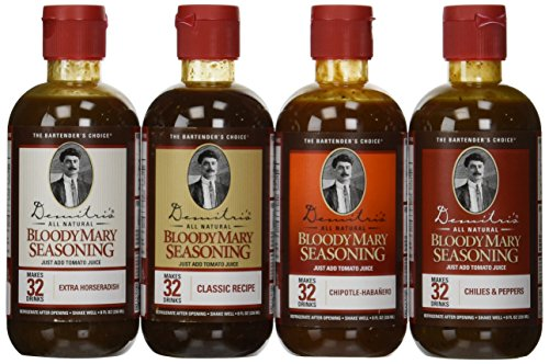 Demitri's Bloody Mary Mixes 8 oz Variety Pack - Set of 4 (Best Bacon Bloody Mary Recipe)