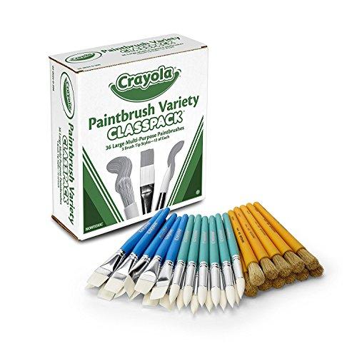 Crayola Bulk Paint Brushes, 36ct Classpack, Brush Set, Great for Kids