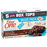 Fiber One 90 Calorie Soft-Baked Bars, Chocolate Fudge Brownie, 12 Count, 10.6 oz.