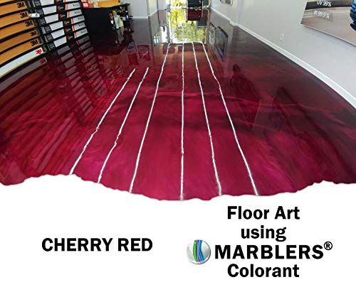 Marblers Powder Colorant 10oz (283g) [Cherry Red] | Pearlescent Pigment | Tint | Pure Mica Powder for Resin | Dye | Non-Toxic | Great for Paint, Concrete, Epoxy, Soap, Nail Polish, Cosmetics by Marblers (Image #4)