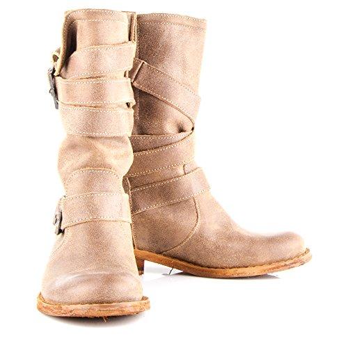 Felmini - Zapatos para Mujer - Enamorarse con Gredo 8562 - Botas Altas Cowboy & Biker - Genuine Cuero - Marrón - 0 EU Size