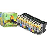Ink Hero 10 Pack HIGH YIELD Ink Cartridges for Brother LC-203 MFC-J4320DW MFC-J4420DW MFC-J460DW MFC-J4620DW MFC-J480DW MFC-J485DW MFC-J5520DW MFC-J5620DW MFC-J5720DW MFC-J680DW MFC-J880DW MFC-J885DW