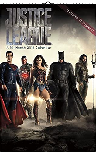 the justice league movie 2018 wall calendar