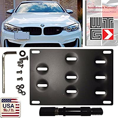 Amazon Com Wtg Front Bumper Tow Hook Hole Adapter License Plate