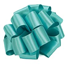 Offray Wired Edge Chantel Craft Ribbon, 1-1/2-Inch Wide by 10-Yard Spool, Navajo Turquoise