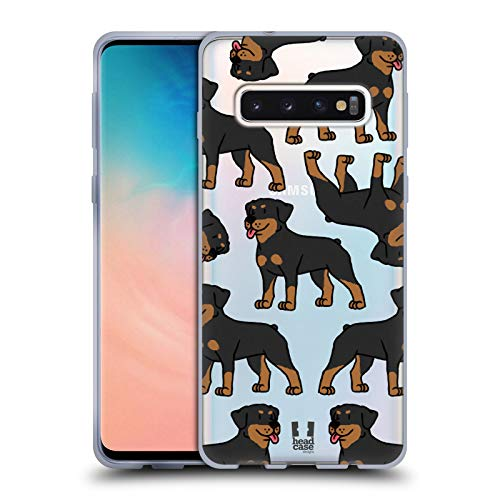 Head Case Designs Rottweiler Dog Breed Patterns 3 Soft Gel Case for Samsung Galaxy S10