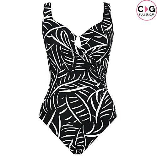 049579808f7a4 Miraclesuit Hard to Be Leaf DD-Cup Escape Underwire One Piece Swimsuit Size  10DD Black