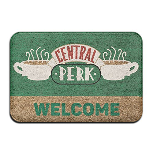 Central Perk Super Absorbent Anti-Slip Mat,Coral Carpet,Carpet Door Mat,Carpet,Carpet,Door Mat,40x60 Cm (Costume Doormat)
