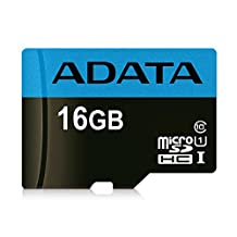 ADATA Premier 16GB microSDHC/SDXC UHS-I Class 10 Memory Card with Adapter Read up to 85 MB/s (AUSDH16GUICL1085-RA1)