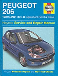 peugeot 206 2002 to 2006 petrol and diesel owners workshop manual rh amazon co uk service manual peugeot 206 download service manual peugeot 206 cc