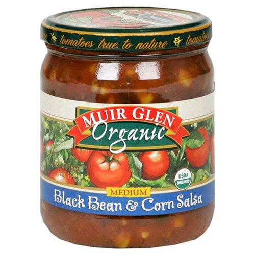 Muir Glen Organic Medium Black Bean and Corn Salsa, 16 Ounce - 12 per case. by Muir Glen