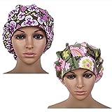 kim caps - Doctor Classic Scrub Hat Adjustable Sweatband Bouffant Cap for Women Ponytail (Print 9+16)