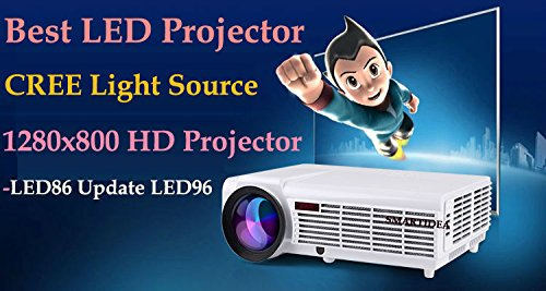 3000Lumens Android4.4 WiFi Bluetooth Smart 1080P 3DフルHD LCDホームシアターDTV LEDプロジェクタープロジェクタービデオビーマーサポートEZCast DLNA Miracast Airpaly B077LNX61P