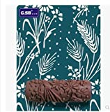 6inch Paint Roller Wall Painting Roller Decorative Rubber Patterned Paint Rollers Liquid Wallpaper Soft Rubber Blue