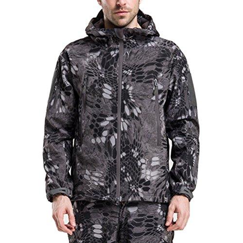 Waterproof Sunscreen amp;white Hooded Shark Black Men's Outdoor Zhuhaitf Bello Jacket Skin vHqOaWWX