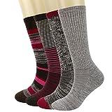 Kirkland Signature Ladies' Trail Socks Merino Wool (Pink), 4 Pairs, Fits Shoe Size: 4-10.5