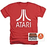 Atari Logo Retro Video Game Royal Red Heather T Shirt & Stickers (XX-Large)