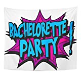 TOMPOP Tapestry Bachelor Bachelorette Cartoon Tattoo Comic Sex Home Decor Wall Hanging for Living Room Bedroom Dorm 50x60 Inches