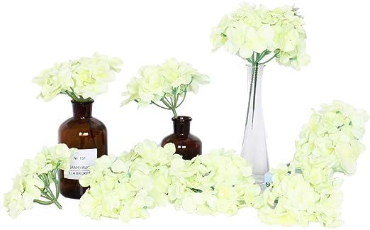 Flores artificiales, 10 piezas de hortensias artificiales para ...