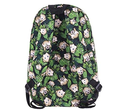 SHFANG Student Schultasche Doppel Schulter Rucksack 3D Druck Little Monkey Travel School Shopping 42 * 27 * 10cm