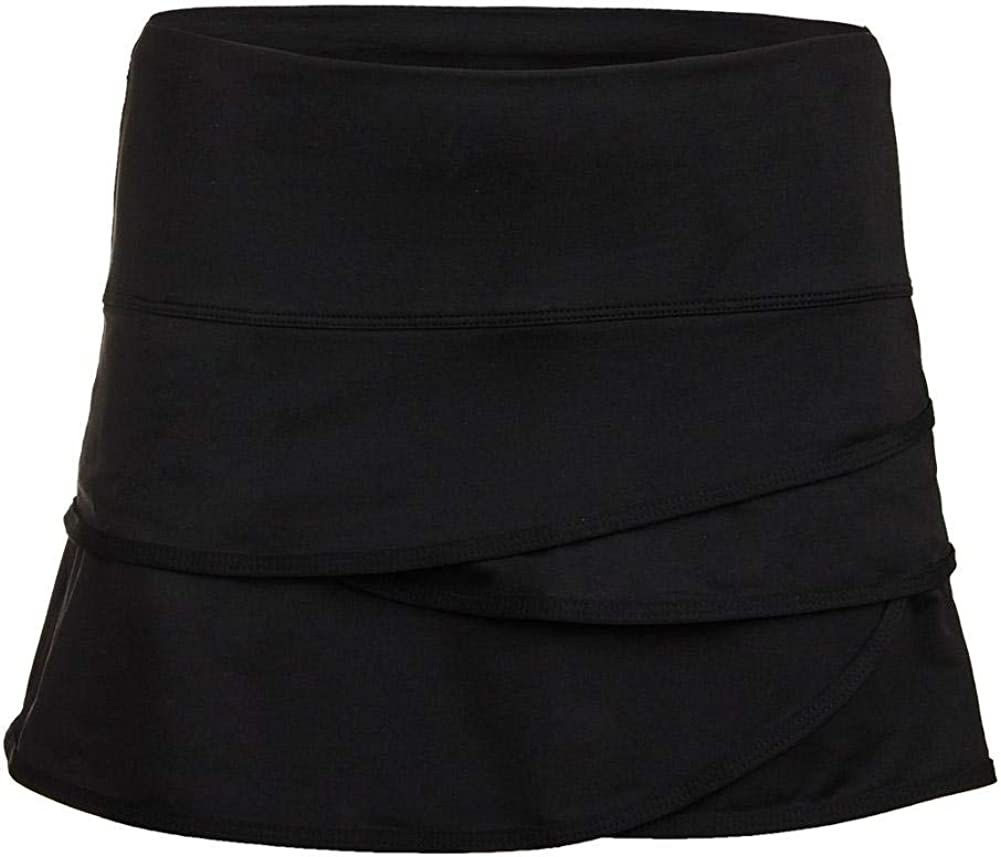 Lucky In Love Scallop Skirt-Large-Black