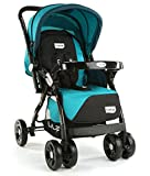 LuvLap Galaxy Stroller/Pram, Extra Large Seating Space, Easy Fold, for Newborn Baby/Kids, 0-3 Years (Blue)