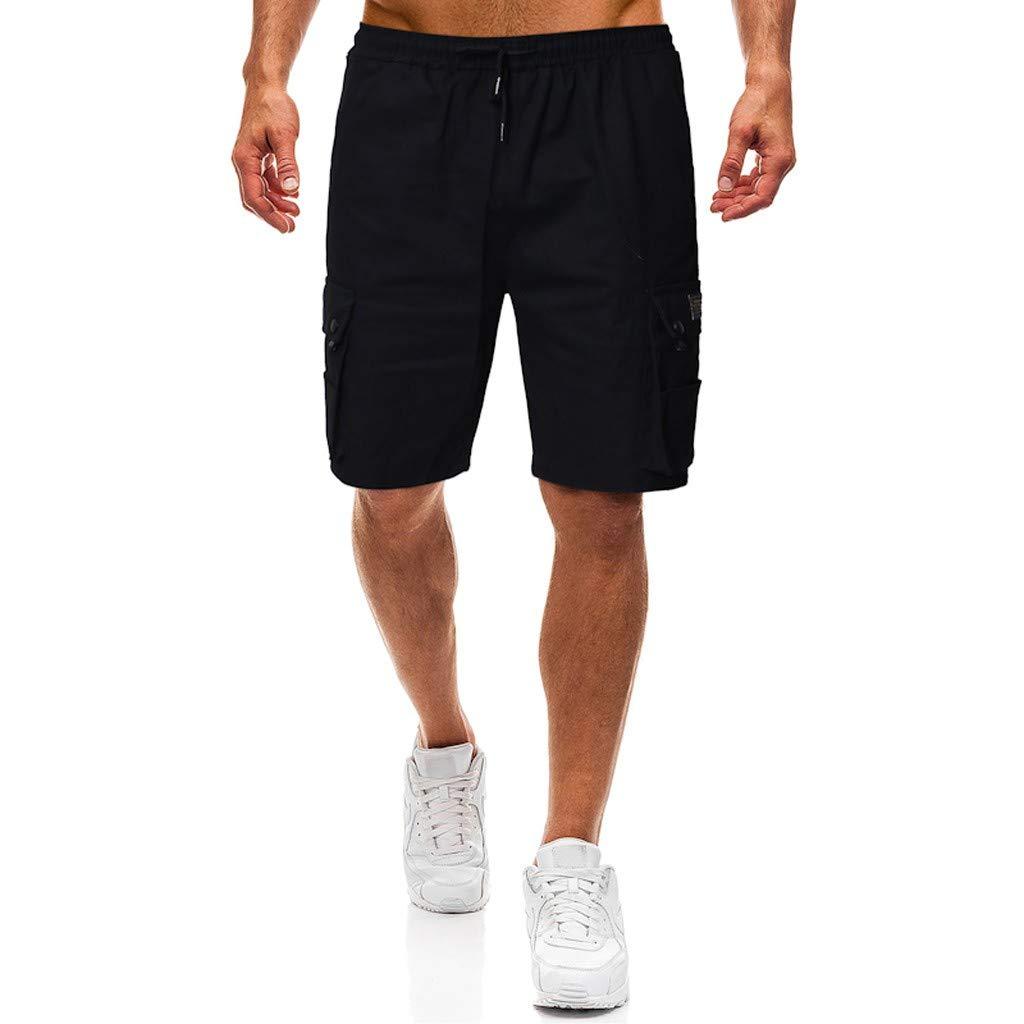 VPASS Pantalones Hombre,Verano Pantalones Casual Moda Trabajo Corta Pantalones Pants Jogging Pantalon Fitness Pantalones Chandal Hombre Ropa de Hombre Pantalones de Trekking Pantalones de Playa