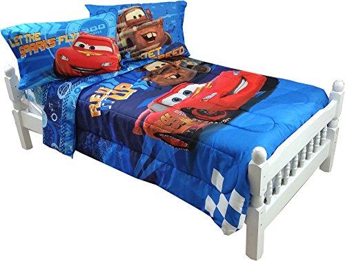 5pc disney cars full bedding set lightning mcqueen city limits comforter and sheet set buy. Black Bedroom Furniture Sets. Home Design Ideas