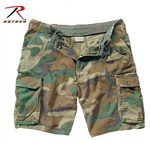 Cargo Shorts Medium Camo - Rothco The Vintage Paratrooper Cargo Shorts,Medium, Woodland Camo