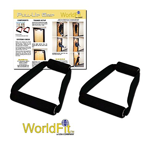 WorldFit Pull-Up Grips for Door in Home, Office and Hotel, Portable Pull Up Bar Home Gym (black) by WorldFit Inc.