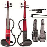 Yamaha SV-130 Concert Select Silent Electric Candy Apple Red 4/4 Violin Outfit including a Johnson Artist Carbon Composite Bow & Yamaha Gray Gig Bag