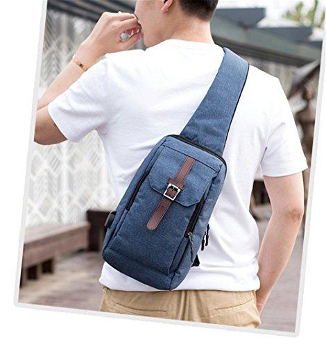 Hcxin Hcxin Heren schoudertas schoudertas turquoise Heren grijs turquoise grijs Hcxin Heren qaxgp6