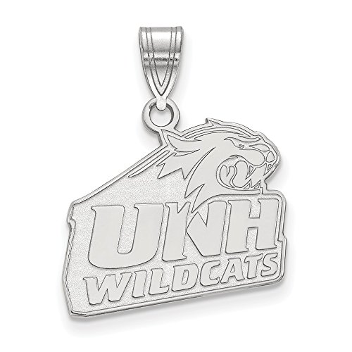 925 Sterling Silver Officially Licensed University College of New Hampshire Medium Pendant by Mia Diamonds and Co.