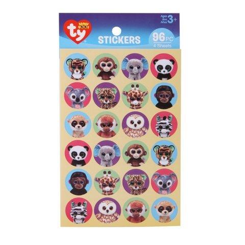 480 Zoo Safari Elephant Monkey Panda Giraffe Teacher Classroom Motivation Stocking Stuffers Party Favors 5 Packages of 96 Jungle Animals TY Beanie BOOS Mini Stickers