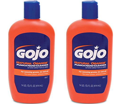Gojo 957 Natural Orange Pumice Hand Cleaner - 14 oz. - 2 Pack by Gojo