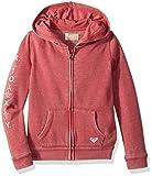 Roxy Little Girls' As We Wish Zip-up Hooded Sweatshirt, Holly Berry, 4