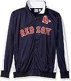 MLB Boston Red Sox Men's Big & Tall Track Jacket, 4X, Navy/White