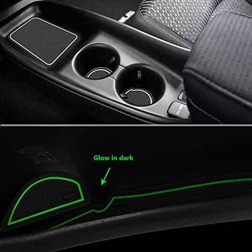Auovo Anti dust Mats for 2016-2019 Toyota Prius Interior Accessories Custom Fit Door Pocket Liners Cup holder Pads Console Mats(16pcs/set, White)
